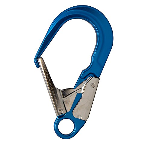 Fusion Climb Poseidon II Aluminum Stainless Steel Gate Drop Forged Rebar Hook ()