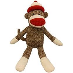 """Lulubelles - 14"""" Parker Sock Monkey- Tan"""