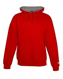 Champion Max Front Pouch Pocket Athletic Fit Pullover Hoodie, scarlet/black, X-Large