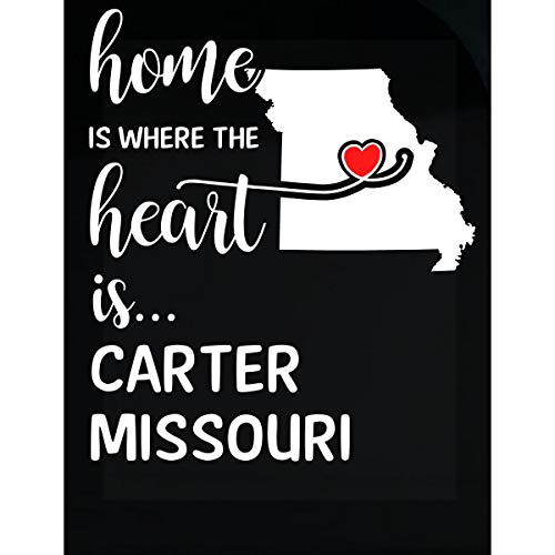 Inked Creatively Carter County Missouri is Where My Heart is Gift - Sticker