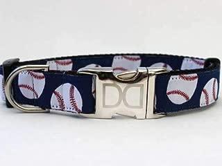 product image for Baseball Custom Dog Collar (Optional Matching Leash Available) XS/S