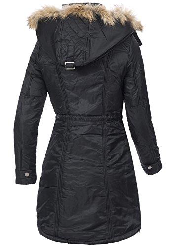 Cappotto Fashion Violet Nero Maniche Donna Lunghe ZP67n14qw