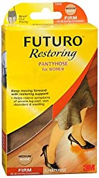 FUTURO Restoring Pantyhose for Women, Firm, Nude, Medium, 1 pr
