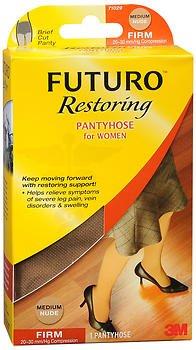 Futuro Restoring Pantyhose for Women Brief Cut Panty Medium Nude Firm - 1 pr, Pack of 5