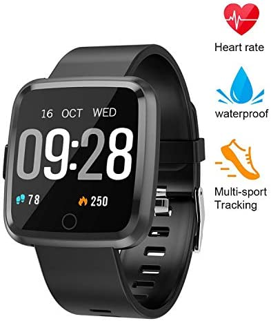 beitony Fitness Tracker, Smart Watch with Continuous Heart Rate Sleep Monitor, Waterproof Fitness Watch, Big Color Screen Activity Watch with Blood Pressure Oxygen Monitor for Kids Women Men