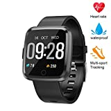 XZHI Fitness Tracker, Smart Watch with Blood Pressure/Oxygen Monitor, Waterproof Fitness Watch, Big Color Screen Activity Watch with Continuous Heart Rate Sleep Monitor for Kids Women Men
