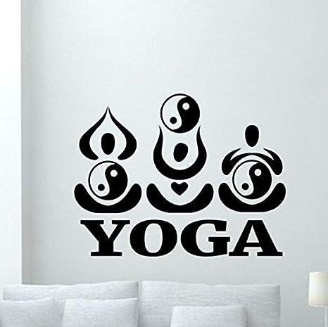 WYTTT Etiqueta de la Pared Yoga Tatuajes de Pared Yin Yang Pose de ...