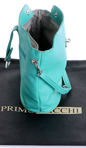 Adjustable a Bag Body Sacchi Handbag Hand Bag Branded Storage Leather Strap Made Protective Shoulder Cross Includes or Green Italian Primo 1xXPnq6d8x