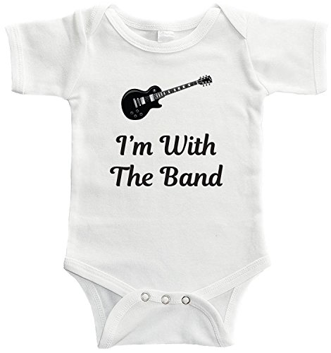 Starlight Baby I'm with The Band Bodysuit for Babies of Musicians, Guitarists, Band Members, Music Lovers