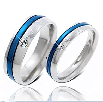 Amazon Com 3aries Silvery Blue Titanium Stainless Steel Cubic