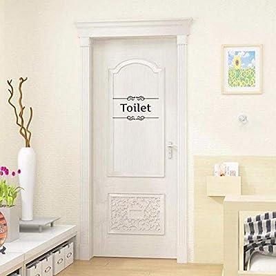 XingYue Direct Extraíble Impermeable Lavabo Señal Baño Baño Puerta Muestra DIY Pegatinas de Pared Decoración Calcomanías (Size : Toilet): Amazon.es: Hogar