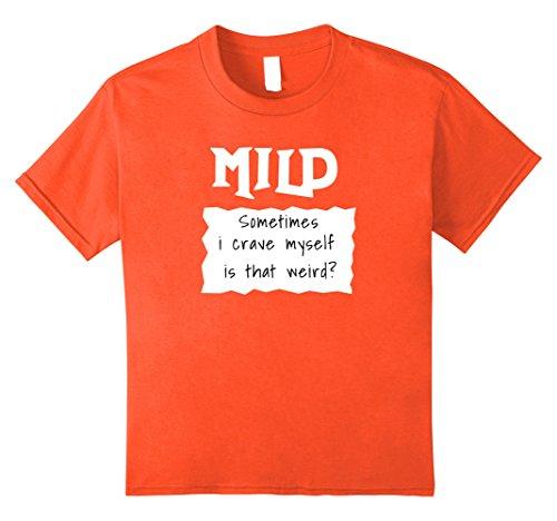 Kids Mild Taco Sauce Halloween Group Costume t shirt 12 Orange