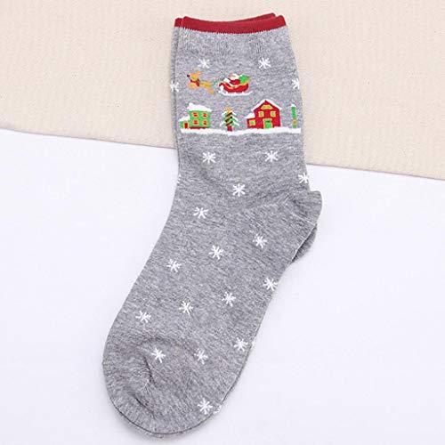 SHOBDW Mujeres Regalo de Navidad Moda Diversión Funky Novedad Niña Calcetines casuales Lindo Unisex Algodón Suave Transpirable Calcetines Calientes de ...