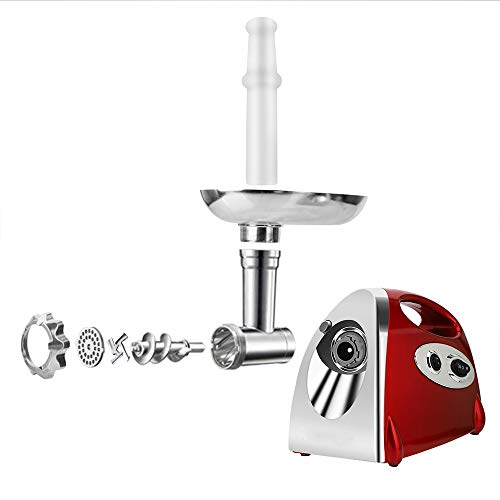Electric Meat Grinder Stainless Steel and Duty Household Sausage Stuffer Food Processor Grinding Mincing Machine with Kubbe Attachement-Ksun 2800W Heavy Duty Mincer(Red) ETL Approved by Ksun (Image #4)