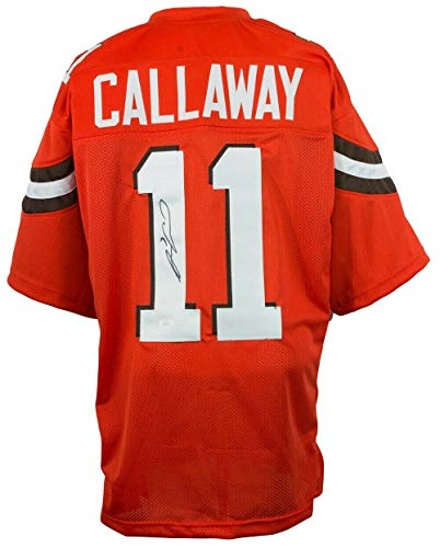 Antonio Callaway Autographed Jersey - Orange Pro Style Custom - JSA Certified - Autographed NFL Jerseys