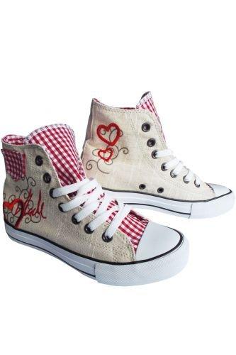 e549067c6844 Trachten Chucks Red Heart Größe 41  Amazon.de  Schuhe   Handtaschen