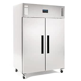 Polar doble puerta congelador 1200ltr restaurante de acero ...