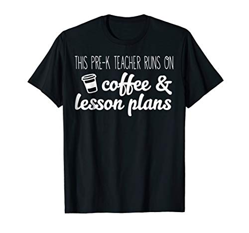 This Pre-k Teacher Runs On Coffee And Lesson Plans Gift for $<!--$15.95-->