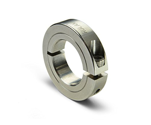 Ruland ENCL25-12MM-SS 303 Stainless Steel Shaft Collar, Thin Line, One Piece, 6 mm Width, 25 mm OD, 12 mm Bore