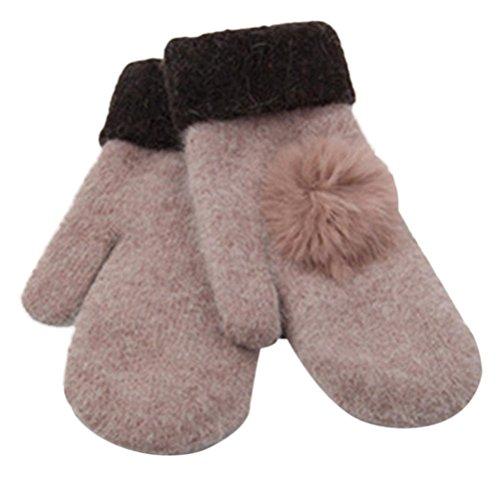 Women's Warm Winter Gloves Mittens Rose Gold - 6