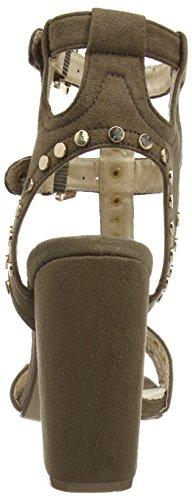Boohoo Caged Stud High Heel Shoe - Sandalias Mujer marrón (Taupe)