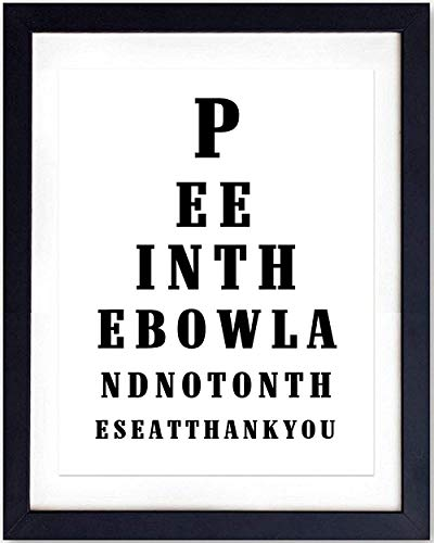 Bathroom Wall Art Print Typography - 8x10 Unframed Photo - Makes a Great Gift for Home Decor - Pee In The Bowl ()