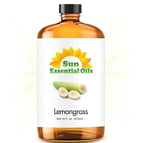 Bulk Lemongrass Oil - Ultra 16 Ounce - 100% Pure Essential Oil (Best 16 fl oz / 472ml) - Sun Essential