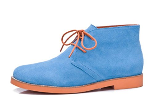 Ms Spring redondas y botas con cordones de los zapatos de tacón bajo las botas de otoño individuales señorita Ma Dingxue , US7.5 / EU38 / UK5.5 / CN38