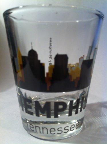 Memphis Glass - Memphis Tennessee Sunset Skyline Shot Glass