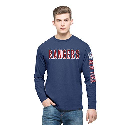 Ny Rangers Classic Shirt (NHL New York Rangers Men's '47 Crosstown Team Long Sleeve Tee, Medium, Bleacher)