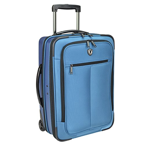 Hybrid Suitcase (Traveler's Choice Sienna Hybrid Carry-On Rolling Garment Bag - Blue (21-Inch))