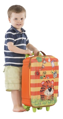 okiedog wildpack 80162 trolley grande para niños con motivo 3D HIPOPÓTAMO, turquesa TIGRE naranja