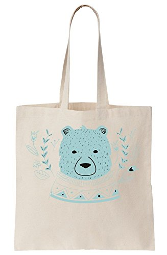 Sweater Tote Canvas Adorable Warm Bear Bag With 0qwn8vFP