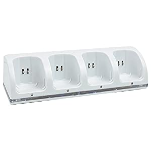 Kycola Wii Charging Dock 4 in 1 WK01 Wii Charger with 4 Rechargeable Wii Batteries and LED Light(White )