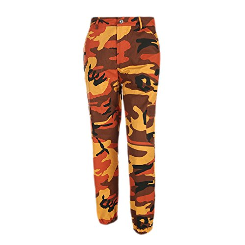 JIGAE Autumn New Collection Women Fashion Casual Street Style Camouflage Print Tooling Denim Pants Ladies Casual Collection