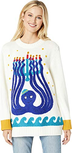Whoopi Octopus Menorah Sweater Multi LG