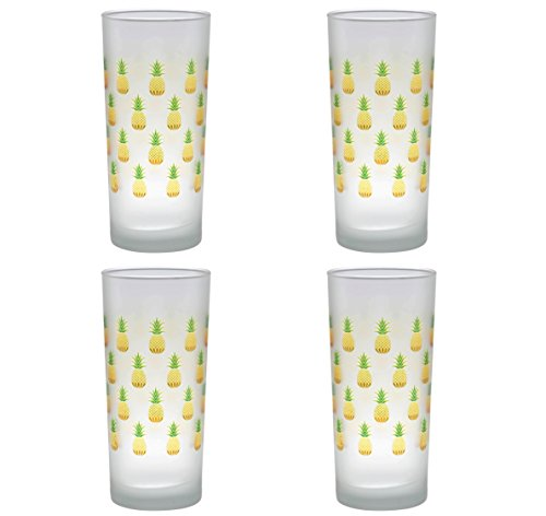 Pineapple Cooler (Culver Pineapples Decorated Frosted Cooler Glasses, 15-Ounce Set of 4)