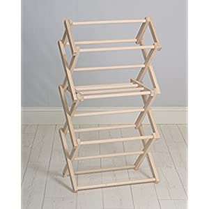Pennsylvania Woodworks Clothes Drying Rack (Made in the USA) Heavy Duty 100% Hardwood (Small)