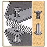 3/8 in. Black Aluminum Chicago Screws/Screw Posts
