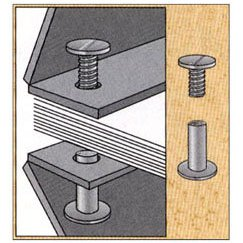 1-1/4 in. Aluminum Chicago Screws/Screw Posts (Qty 100 sets)