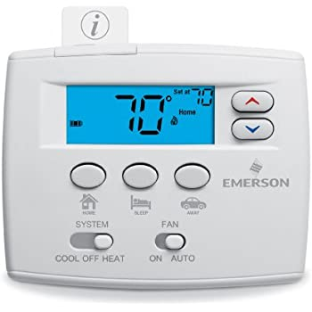 emerson 1f86 344 non programmable thermostat for single. Black Bedroom Furniture Sets. Home Design Ideas