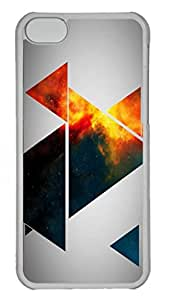 Slim Case with 1017 Digital Art- Abstract Ultrathin Anti-Skid Custom Hard Back Case Cover for iphone 5c Transparent-102106