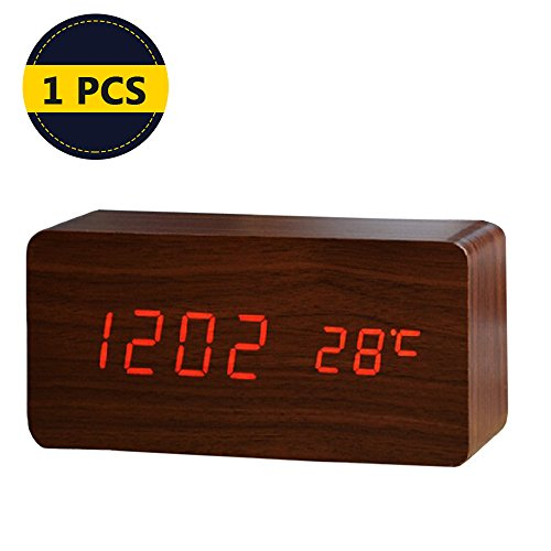 Alarm Clock With USB Charger,Smart Battery Backup Time Clock