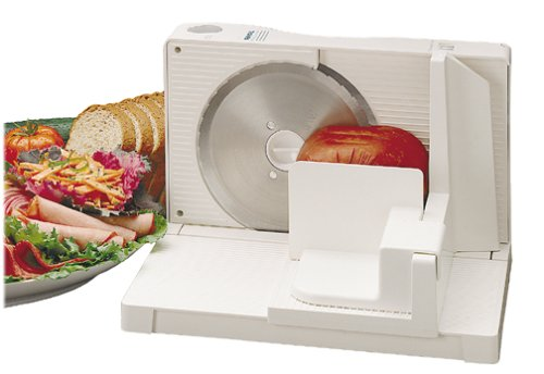 Rival 1042W Electric Food Slicer, White by Rival