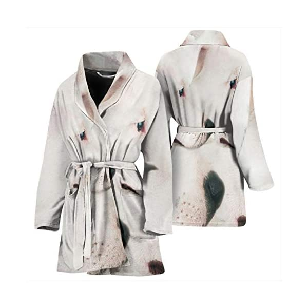 Simply Cool Trends Dogo Argentino Dog Print Women's Bath Robe 3