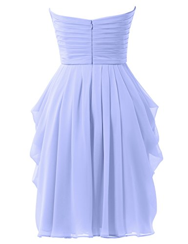 Alicepub Lavender Party Women Short Chiffon Gown Bridesmaid Dress Prom A Cocktail s Line fgxq7rfCw