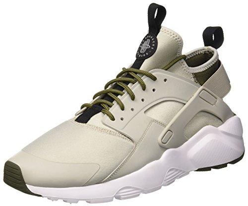 Nike Mens Air Huarache Running Shoe Pale Grey/Black-cargo Khaki