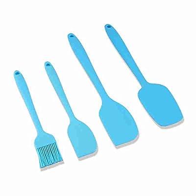 Accessoires de cuisine ZXY ZXY une cuisson 4 silicone couleur mélange tuba beurre spatule épaississement bicarbonate de lame,la mer de glace bleue