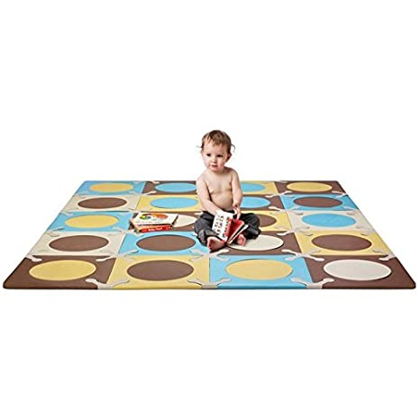 Skip Hop Playspot Alfombra Color Azul Dorado Amazon Es Bebe