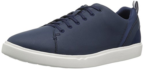 Clarks Heren Step Verve Lo Sneaker Navy Perfed Microfiber